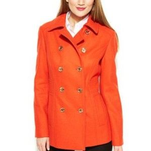 Michael Kors orange pea coat
